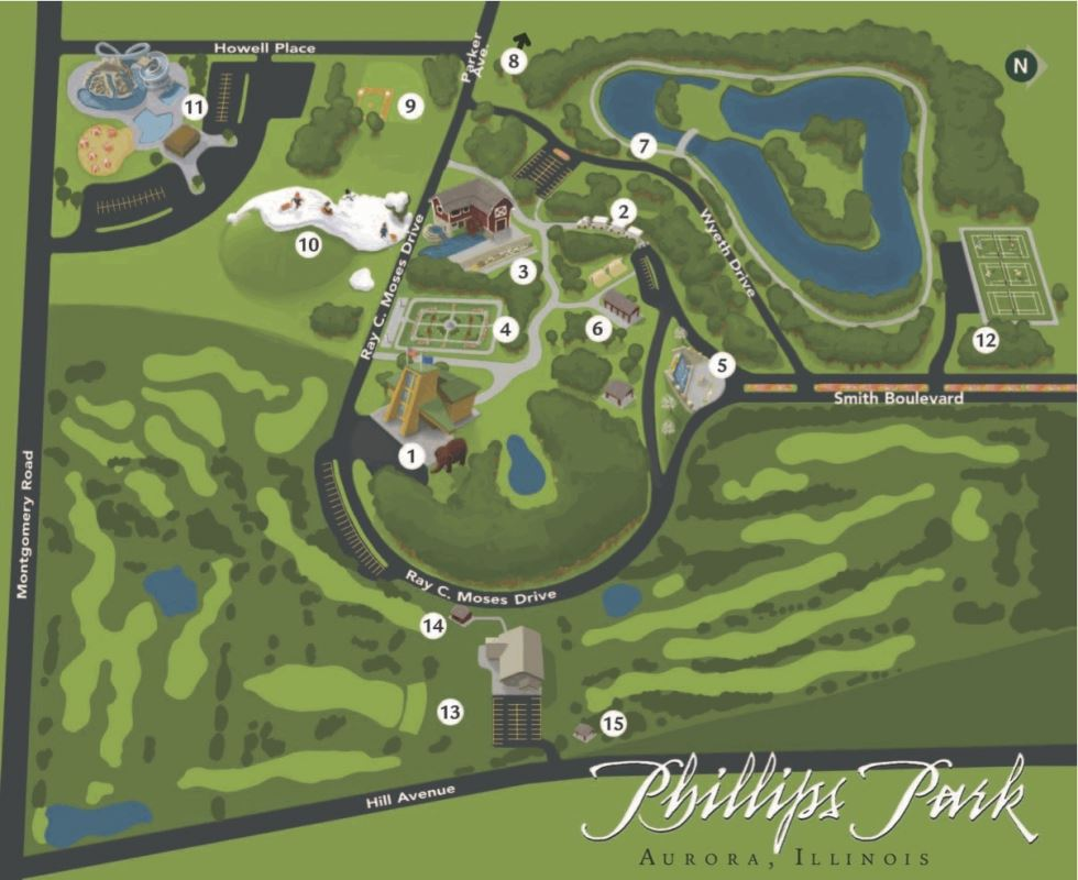 Phillips Park Map Aurora Il