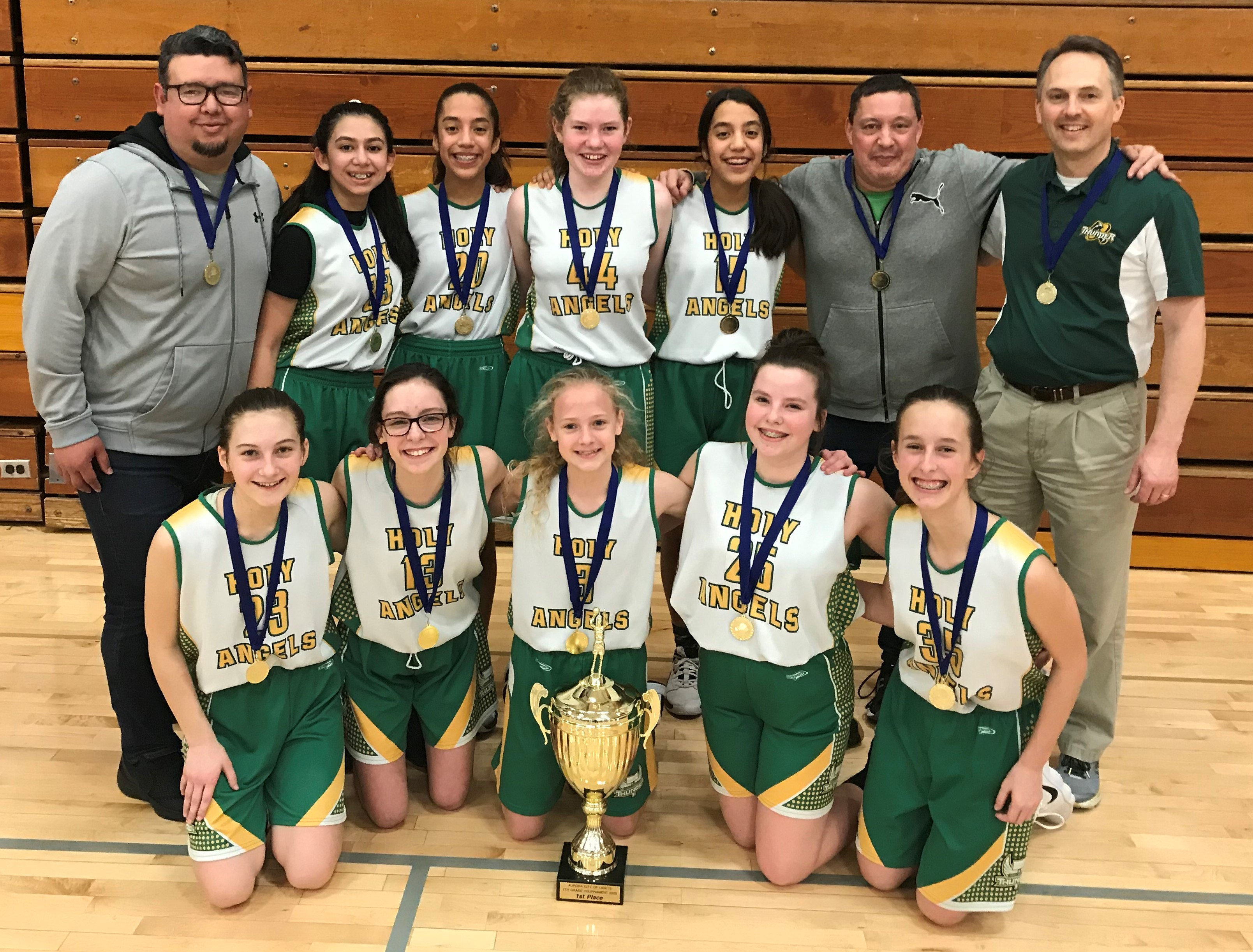 2020 7th Grade Girls Basketball Champions: Holy Angels Catholic School